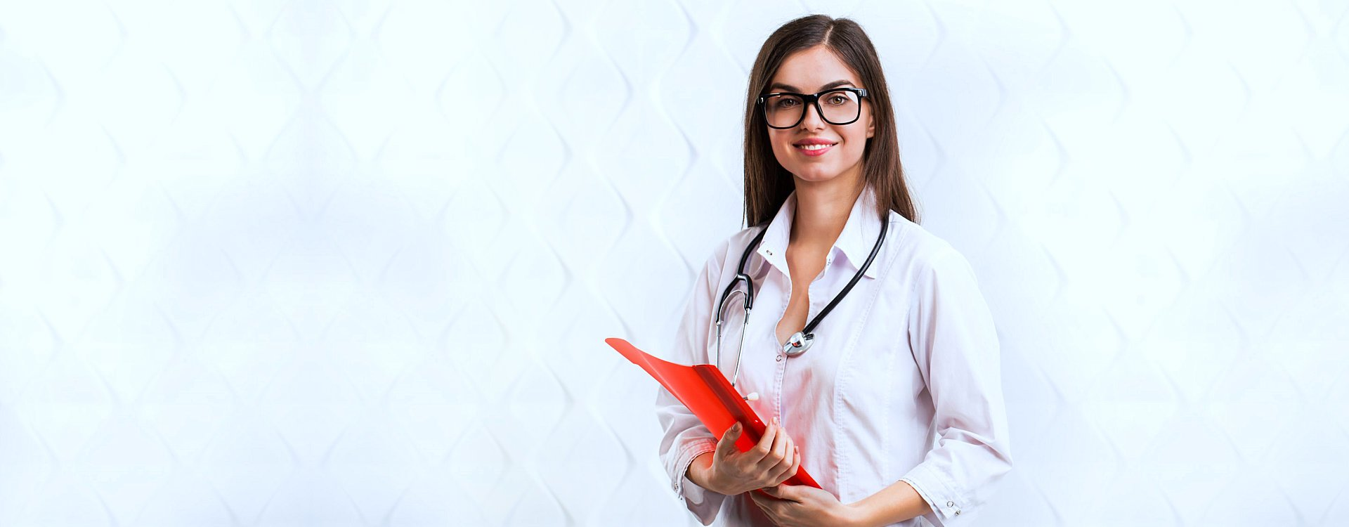 beautiful nurse with glasses